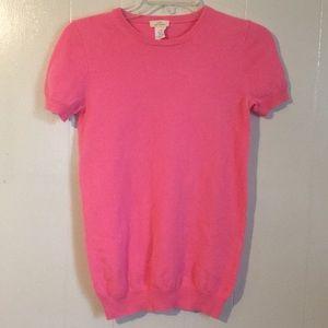 J Crew Cashmere Short Sleeve Sweater, Size M, EUC